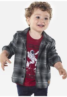 Camisa Xadrez Infantil Bebê Menino Em Tecido De Algodão Puc