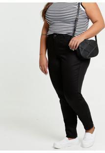 Calça Feminina Sarja Skinny Plus Size Razon