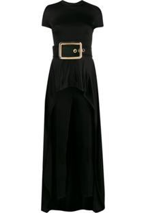 Elisabetta Franchi Evening Belted Jumpsuit - Preto