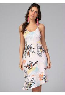 Vestido Clássico Floral Com Alças Regulaveis
