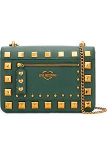 Love Moschino Studded Shoulder Bag - Verde