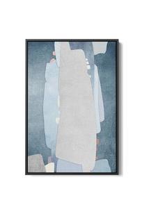 Quadro 60X40Cm Abstrato Textura Kolere Moldura Flutuante Filete Preta