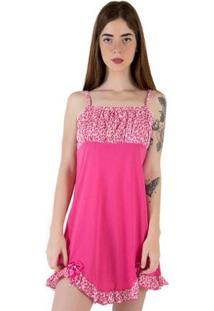 Camisola Linha Noite De Malha - Feminino-Pink