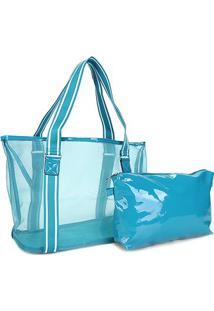 Bolsa Pagani Tote Bag Feminina - Feminino-Azul Claro