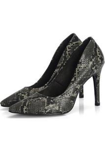 83cde8a0f R$ 119,00. Zattini Scarpin Not-Me Cobra Salto Alto Ousado Moderno Fashion  Confort ...