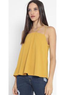 Blusa Com Aviamento - Amarelo Escuro- Lança Perfumelança Perfume