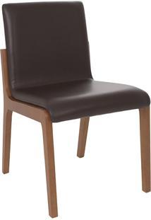 Cadeira Angelina - Couro Marrom