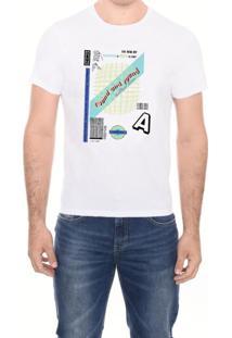 Camiseta Conf M/C Gola C Round And M.Officer Branco