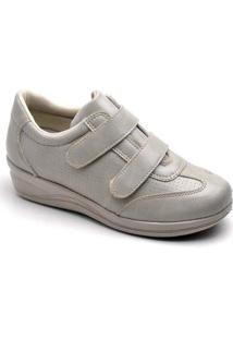 Sapatênis Conforto Feminino Top Franca Shoes - Feminino-Gelo