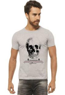 Camiseta Joss - Caveira Cranio - Masculina - Masculino-Mescla