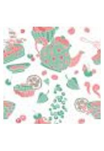 Papel De Parede Autocolante Rolo 0,58 X 5M - Bule Cupcake Doces Cozinha 289247099
