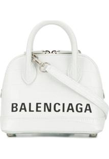 Balenciaga Bolsa Ville Xxs - Branco