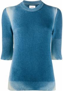 Barrie Blusa De Tricô Degradê - Azul