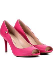 1b3e8b730f ... Peep Toe Couro Jorge Bischoff Salto Fino - Feminino-Pink