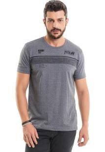 Camiseta Com Bordado Cinza Bgo