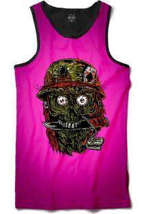 ... Camiseta Insane 10 Regata Zumbi Militar Sublimada Preto Rosa 8e371083b52