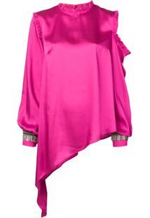 Loulou Blusa Assimétrica - Rosa