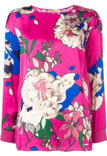 Twin-Set Blusa Com Detalhe De Renda Nas Costas - Rosa