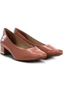 Scarpin Dakota Salto Baixo Bico Quadrado - Feminino-Rosa Claro