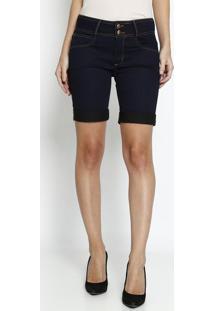 Bermuda Jeans Lisa - Azul Escuro - Lança Perfumelança Perfume