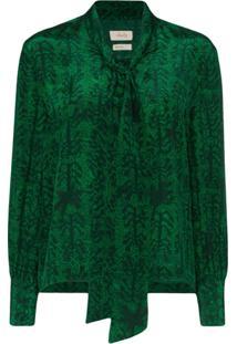 Chufy Blusa Estampada - Verde