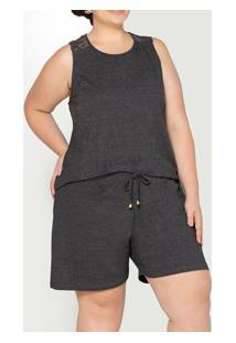 Pijama Curto Mescla Pzama (90040) Poliviscose - Plus Size