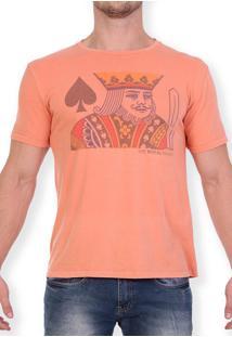 Camiseta Royal Brand King Of Spades Laranja