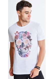 Camiseta Caveira Floral