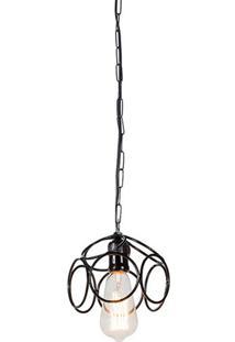 Luminaria Pendente Lump Estrutura Em Ferro Redondo Cor Preto 0,14 Cm (Alt) - 54093 - Sun House