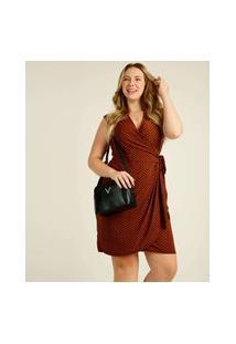 Vestido Plus Size Feminino Transpassado Amarração