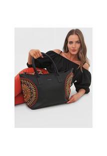 Bolsa Tiracolo Shopping Bag African Mand Preto