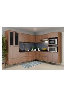 Cozinha Completa Multimóveis Com 9 Peças Calábria 5461 Nogueira