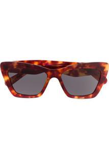 Salvatore Ferragamo Eyewear Cat Eye Sunglasses - Marrom