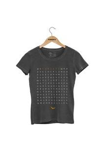 Camiseta Forseti Estonada Caça Palavras Chumbo