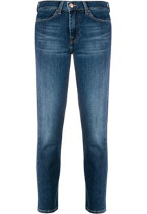 7 For All Mankind Calça Jeans Slim Cropped - Azul