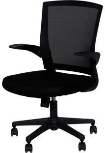 Cadeira Oia Decor Giratória Preto