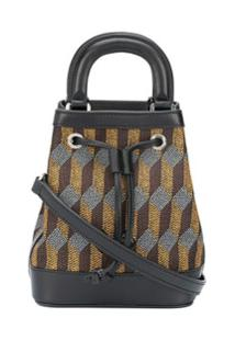 Audepart Dauphine Geometric Jacquard Bucket Bag - Marrom
