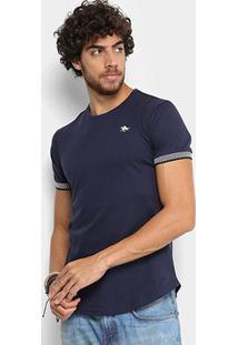 Camiseta Rg 518 Long Punho Xadrez Masculina - Masculino-Marinho