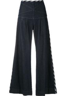 Andrea Bogosian Calça Jeans Pock Pantalona - Azul