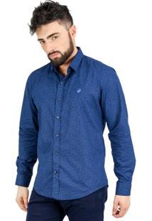 Camisa Norfolk Floral Com Bordado - Masculino