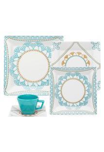 Aparelho De Jantar E Chá 20 Peças Porcelana Oxford Quartier Domo