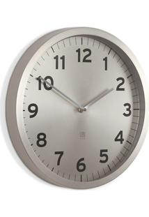 Relógio De Parede De Metal Anytime Umbra Niquel 32Cm - 26715