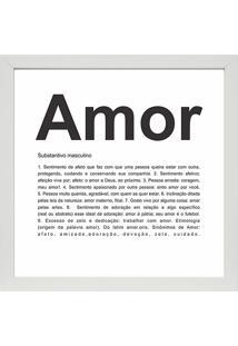 Quadro Amor 27X27-Kapos - Branco