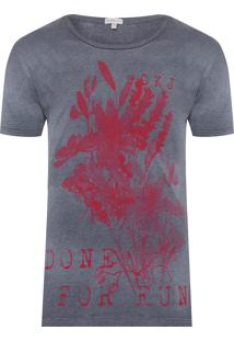 Camiseta Masculina Done For Fun - Cinza