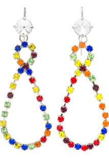 Miu Miu Crystal Earrings - Amarelo