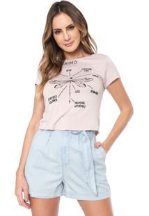 Camiseta Lez A Lez Bordada Rosa