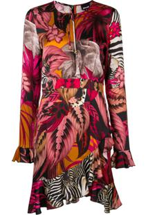 Just Cavalli Vestido Assimétrico - Rosa