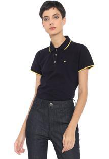 Camisa Polo Ellus Asa Azul-Marinho/Amarela