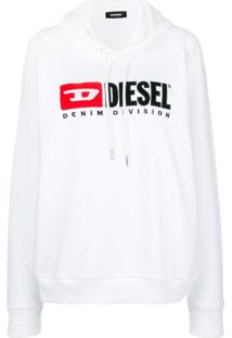 Diesel Blusa De Moletom Com Logo 'Denim Vision' - Branco