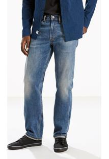Calça Jeans Straight Levis - Masculino-Azul